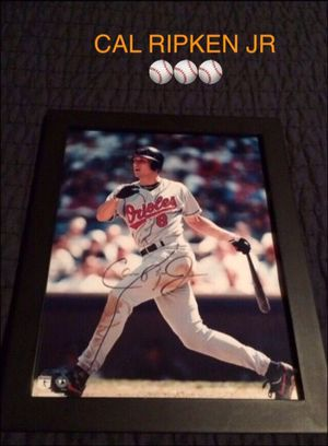 Cal Ripken Jr Baltimore Orioles Baseball Signed / Autographed Framed Photo (Collectible Sports Art Memorabilia)