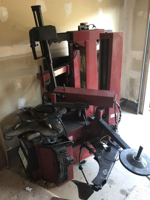 Black and red industrial equipment