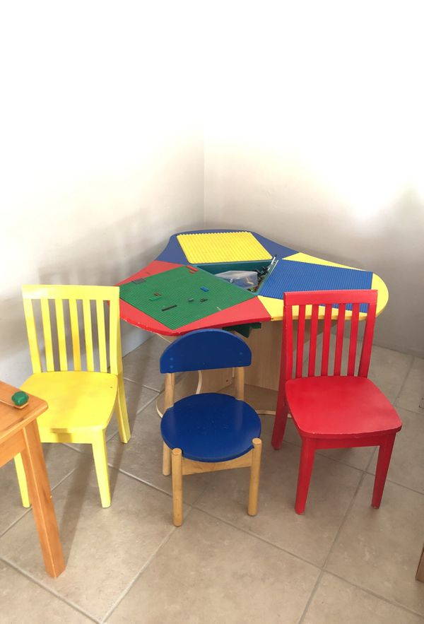 LEGO table with three chairs and 6 learning games and puzzles ...