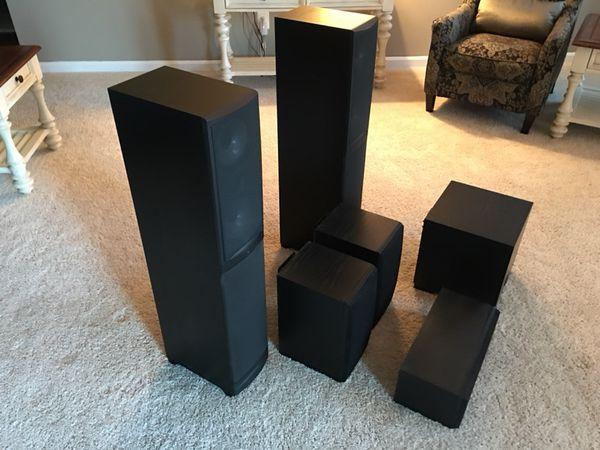 6-Speaker Home Theatre System + 5.1 Channel Network AV Receiver ...