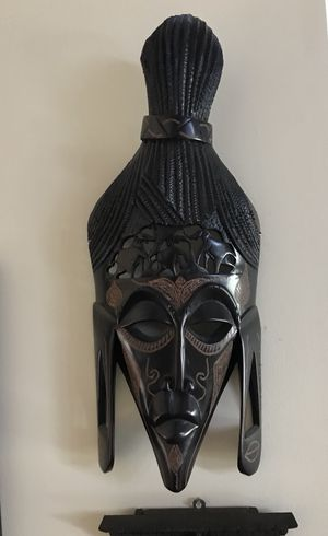 African mask wall hanging.