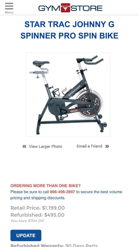 Star Trac Johnny G Spinner Pro Spinner Bike Sports Outdoors In