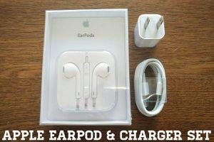 New Apple Earpod & Charger Set (Originals)
