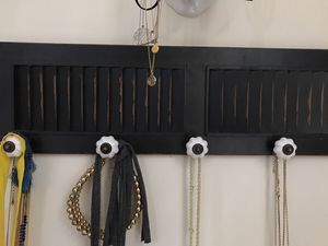 Distressed necklace holder