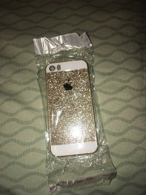 iPhone 5s glitter case (brand new w/ screen protectors)