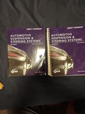 Automotive suspension and steering systems classroom book and shop manual