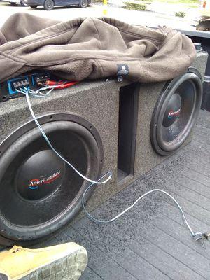"Dual American bass 15"". 1600watt cadence amp"