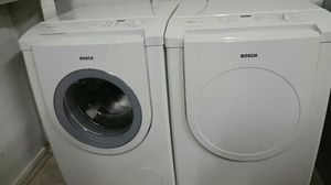 Washer and Dryer Bosch