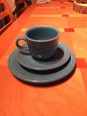 Fiesta ware blue tea cup
