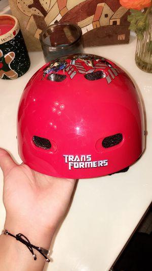 Red transformer bicycle helmet