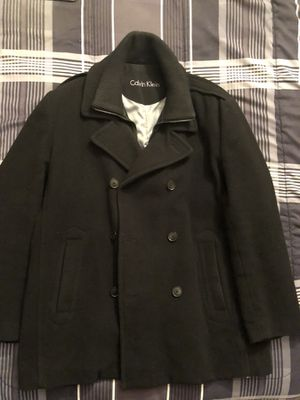 Calvin Klein Black Men's Pea Coat - 2XL Fresh!!