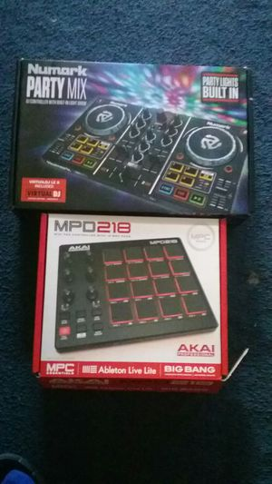 Numark party mixer ,akai beat machine