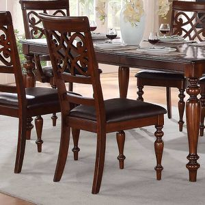 Set Of 6 Chairs And Dining Table Brand New All Wood Construction With Aesthetic