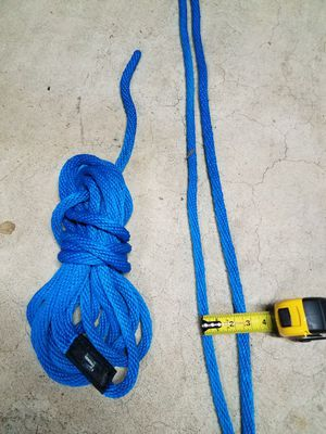 Boat dock lines blue 25 ft braided thick