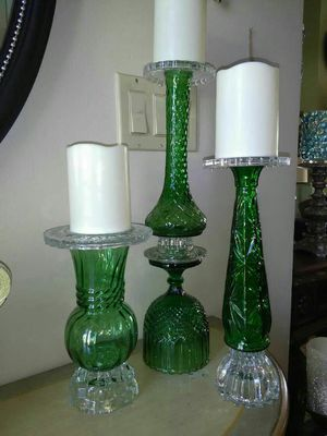 Glass candle holders PRICE IS FIRM!!