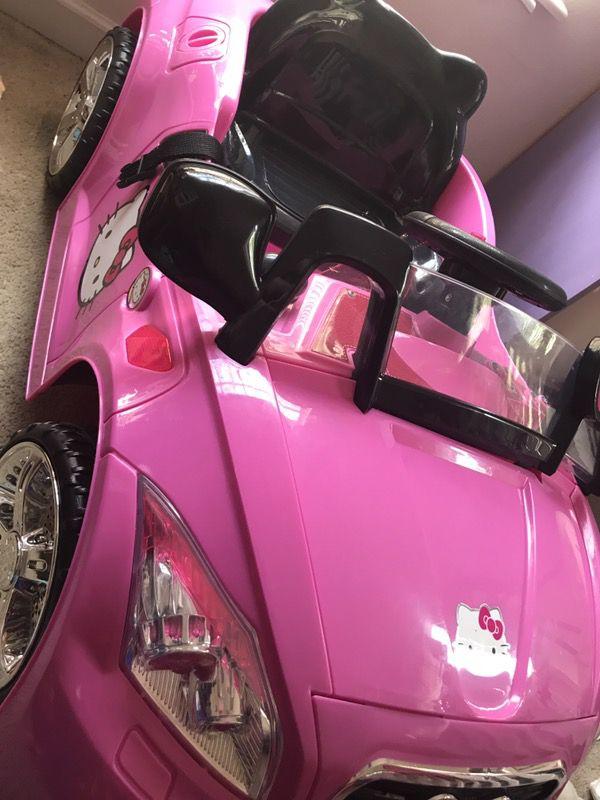 hello kitty 6v karaoke car with mp3 port