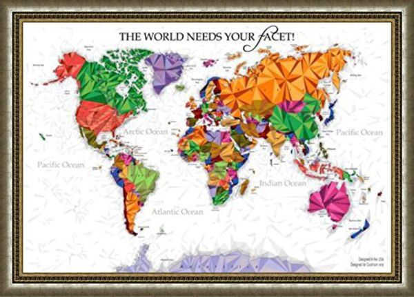 Unique diamond scratch map large world map poster wall art unique diamond scratch map large world map poster wall art posters with scratch off publicscrutiny Gallery