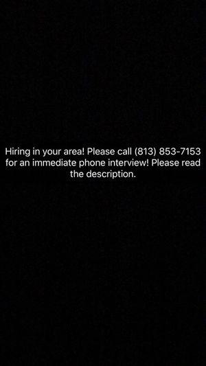 Hiring immediately! Merchandising/assemblers ...call now!
