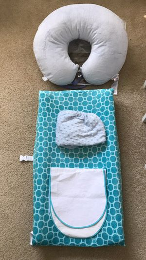Boppy pillow and changing pad nursery bundle