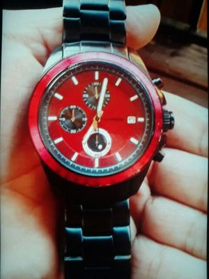 Black and red Express watch
