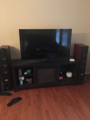 Tv stand with heater/fake fire place
