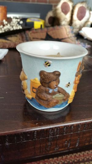 Small votive candle bear holder