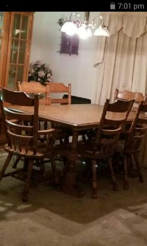 EXTRA LARGE FAMILY Wood Dining Table And Chairs