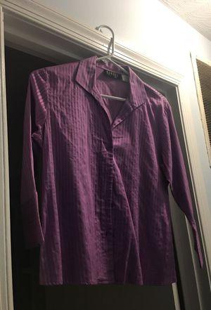 Purple dress shirt women's