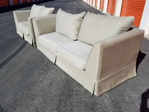 2 piece couch & loveseat sofa set