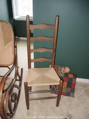 Ladder back side chair - 4 rungs