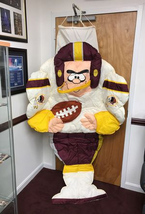 "Redskins large Lawn Blowup Figure! Great for the true Redskins Fan! This is a classic! Has NEVER been used! It's about 6 feet high n 42""wide at wides"