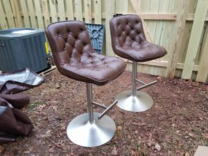 Brown modern adjustable leather chairs