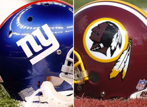 2 New York Giants Bs vs Redskins Tickets