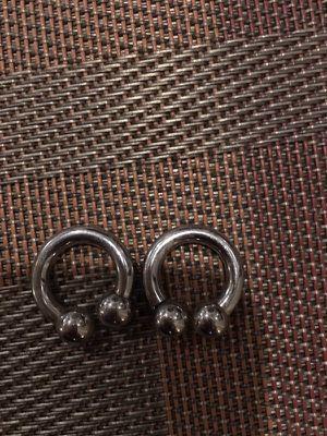 8 gauge sterling silver earrings