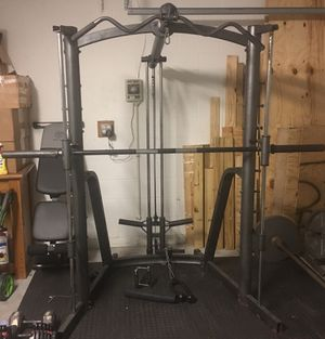 Smith Machine with pull up/down cables *weights not included*