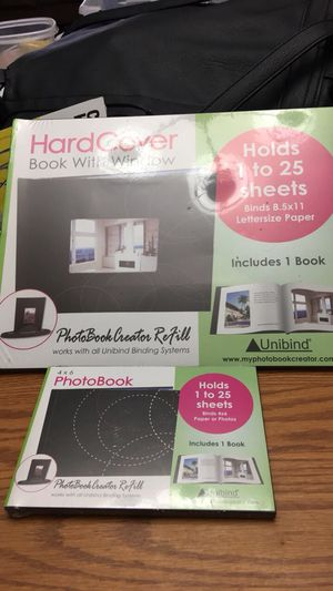 Hardcoverbookwith window for pictures