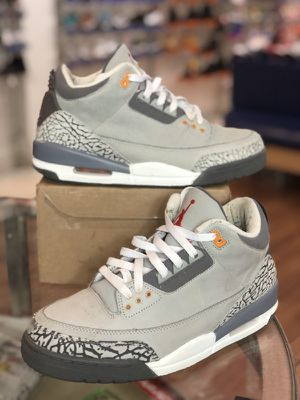Cool grey 3s size 9