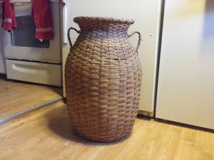 Antique large oak basket