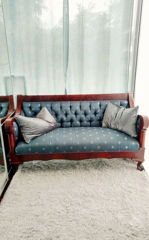 Antique American Empire sofa , couch, settee