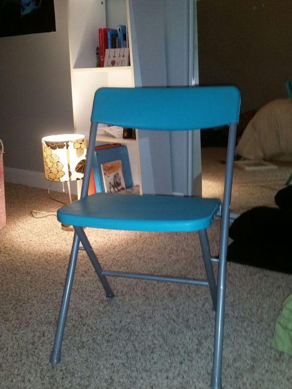 Blue Folding Chair Furniture In Mukilteo Wa Offerup