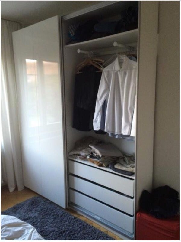 slim wardrobe almost new ikea pax hasvik furniture in mountain view ca. Black Bedroom Furniture Sets. Home Design Ideas
