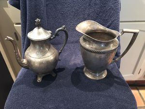 Beautiful Rogers Brothers Silver Plate Tea Pot and Pitcher