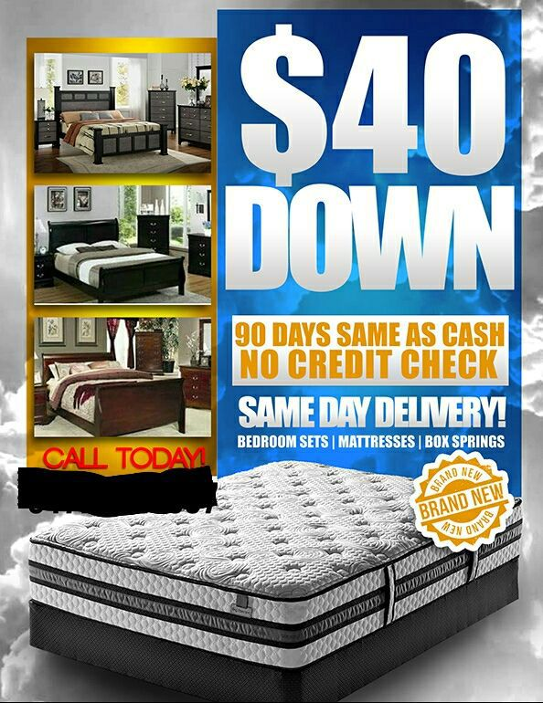 Bedroom Sets No Credit Check brand new pillowtops and bedroom sets (furniture) in indianapolis