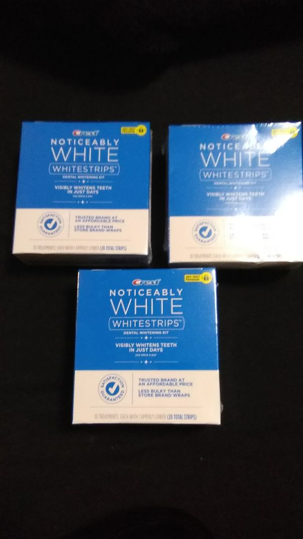 Crest noticeably white strips 10 count Beauty Health in Dallas TX