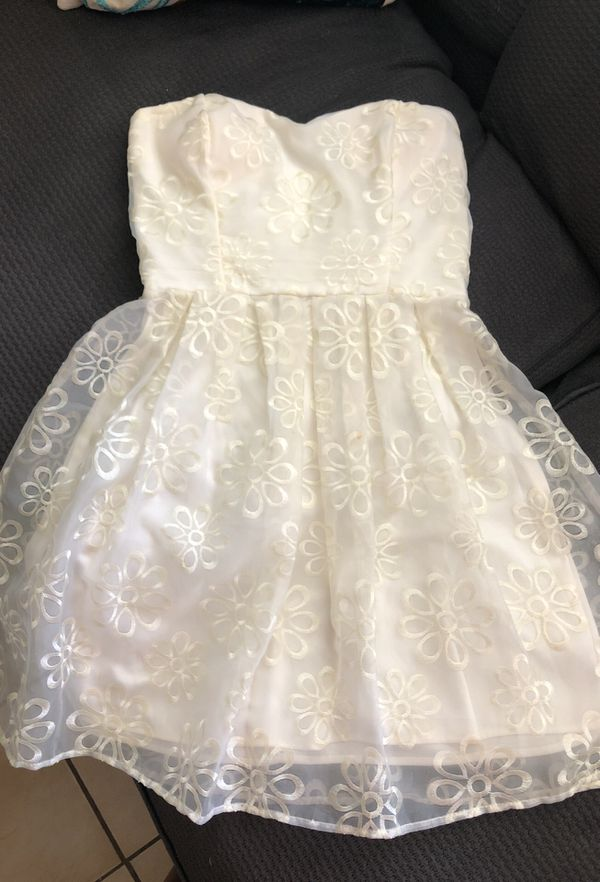 Stapless babydoll prom dress - cream color (Clothing & Shoes) in ...