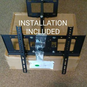 "New full motion tv wall mount universal 30 to 60"" any size and brand of tvs the price includes INSTALLATION"