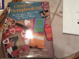 Scrapbooking hardback book and Creative Memories Power Layout Guides
