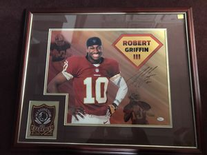 "Redskins 2012 First Round Draft Choice and NFL Rookie of the Year, still RGIII! Autographed n Framed! No one can forget his ""Greatness in That Rookie"