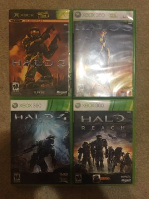 Halo 2,3,4 + Reach for Xbox 360 for sale  Tulsa, OK