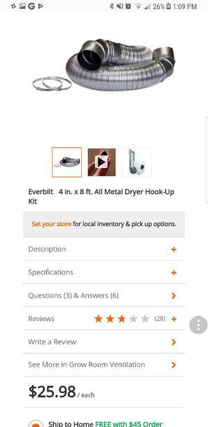 2 dryer hook up kit